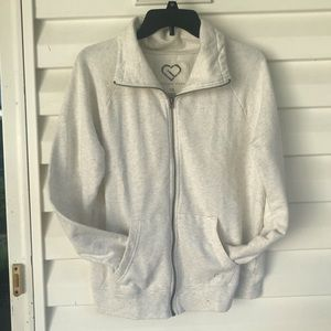 3 for $15 Light Gray Zip Front Jacket